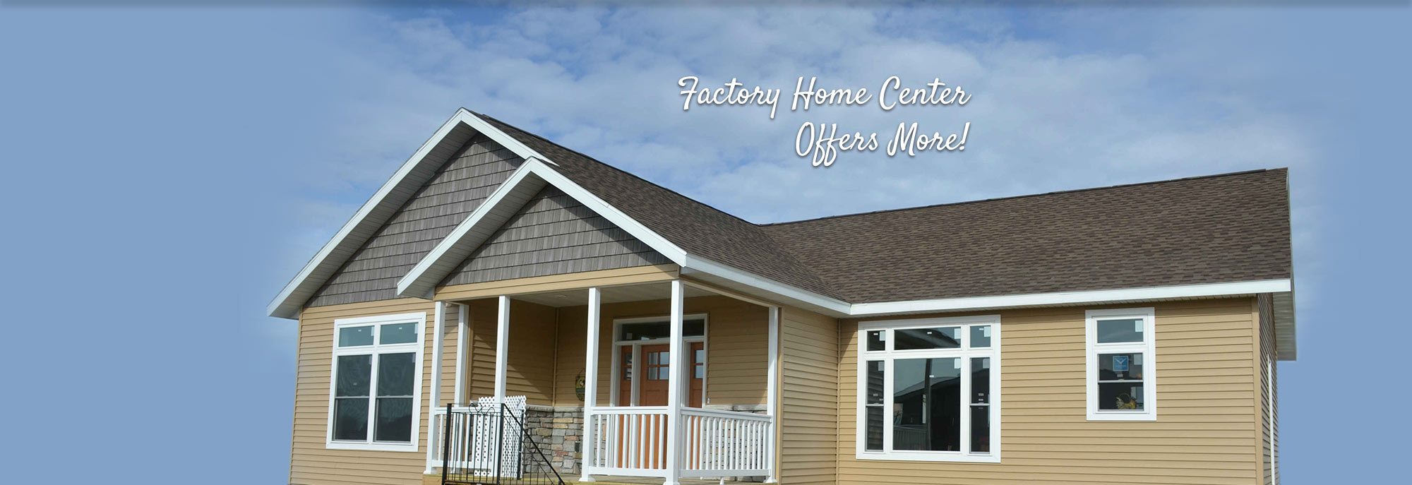 Exterior of Modular Home built by Factory Home Center