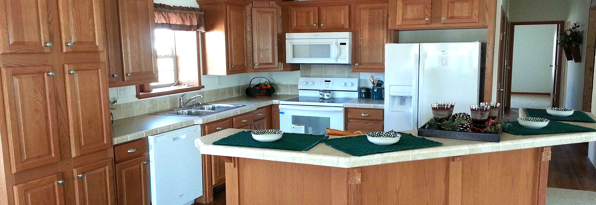 The kitchen of the Kennedy Model Modular Home built by Factory Home Center